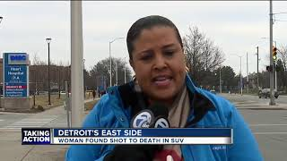 Person of interest detained after woman found shot dead inside SUV on Detroit's east side