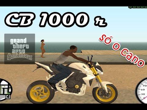 GTA San Andreas- CB1000R Só O Cano Fritando Pneu (download)