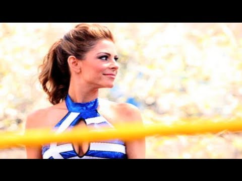 Maria Menounos Wrestling! - YouTube