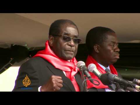 Zimbabwe's President throws lavish party