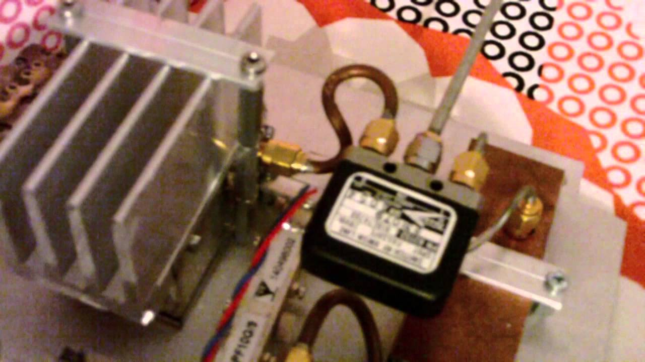 10GHz beacon DM0TUD received with homemade transverter