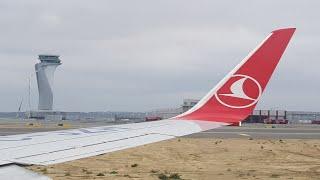 İstanbul Havalimanı (IST) THY Taxi and Take-off (Kalkış)