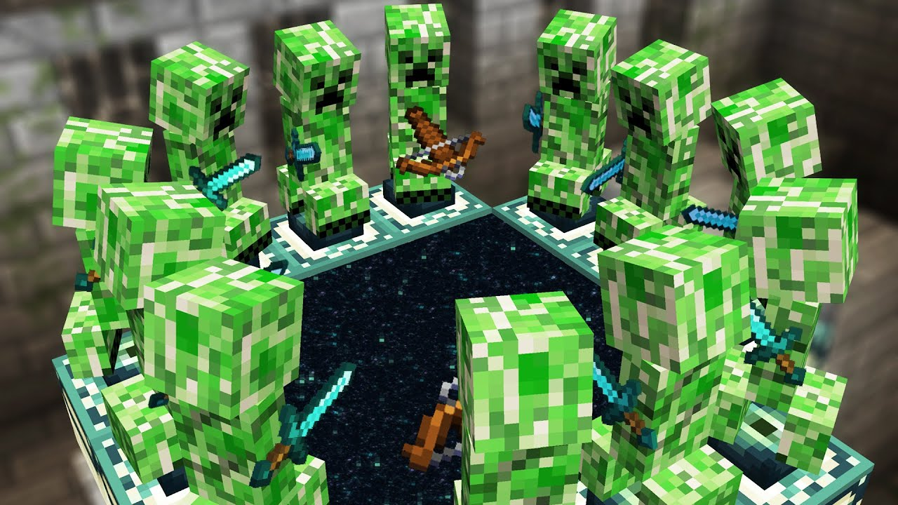 Minecraft but Creepers beat the game for you...