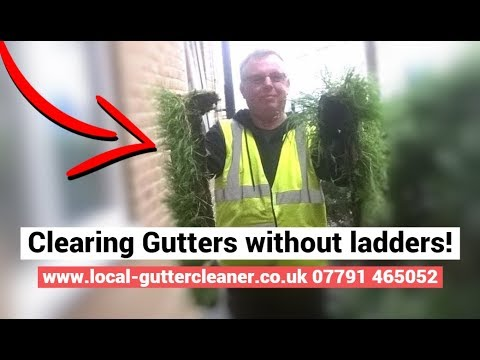 How to clean gutters without ladders