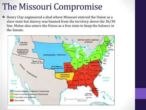 Tensions Over Slavery & The Second Party System