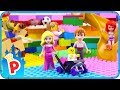 ♥ LEGO Aurora Goes to the Indoor PLAYGROUND for Kids with her Baby and Prince Phillip