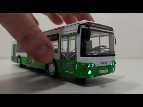 ЛиАЗ игрушка автобус зеленый