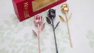 Karalux giới thiệu bông Hoa Hồng mạ vàng đen làm quà tặng ngày Phụ nữ 20/10