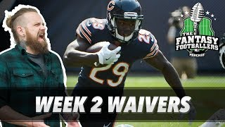 Fantasy Football 2017 - Week 2 Waivers, QB Streamers, MNF Reactions - Ep. #434