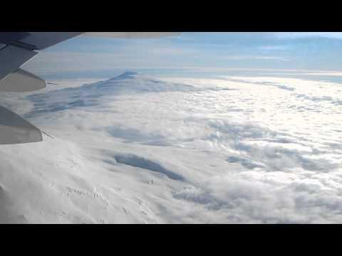 Flying over Mt. Erebus