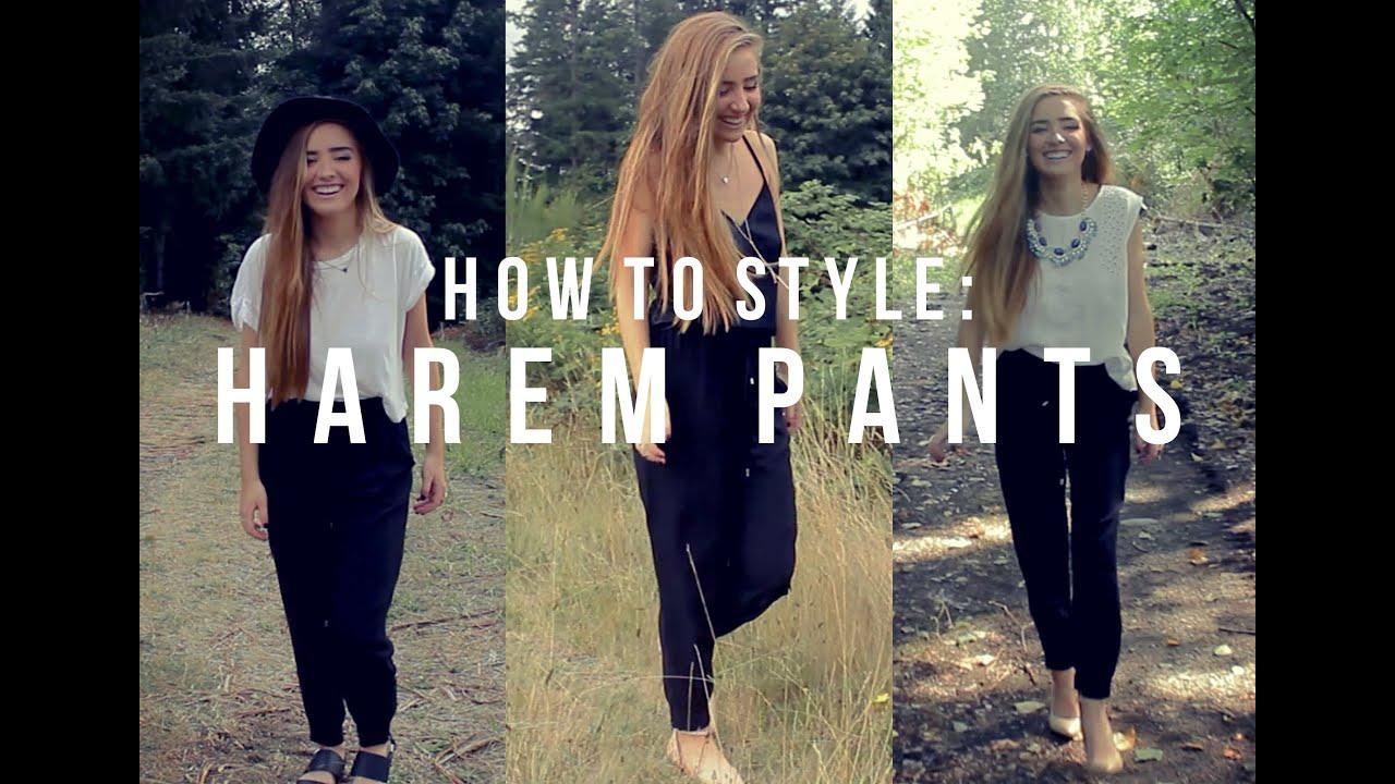 3 ways to style harem pants - youtube