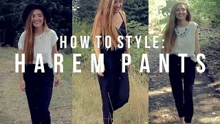 3 Ways to Style Harem Pants