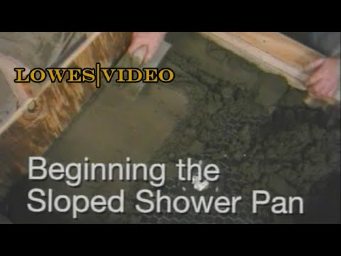 how to build a shower base and floor