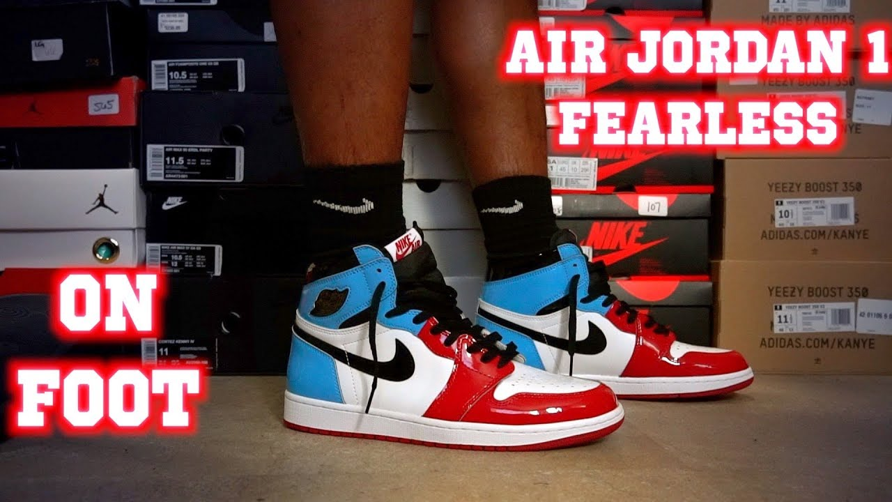 Air Jordan 1 Retro High Og Fearless On Foot Youtube