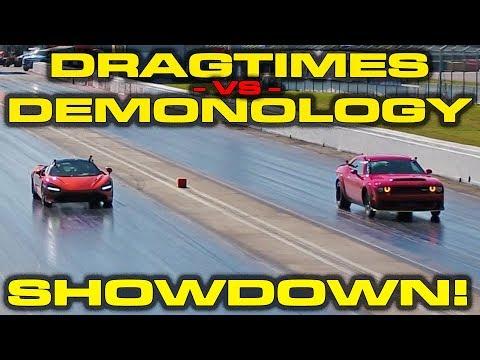 DragTimes vs Demonology Showdown!  McLaren 720S vs Dodge Demon Drag Racing 1/4 Mile