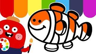 키즈 영어공부 귀여운 니모 그림 그리기  - 젤리바바 …