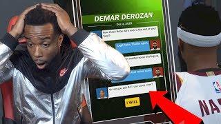 DEMAR DEROZAN TRYING TO HOLLA AT B-FRESH! NBA 2k18 MyCareer