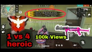 FreeFire India || New challenge solo vs squad in heroic league || Best Tips and Tricks|| king of ff