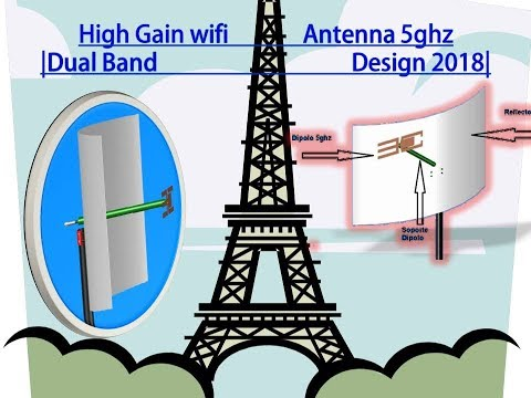 How to make internet antenna | High Gain wifi Antenna 5ghz
