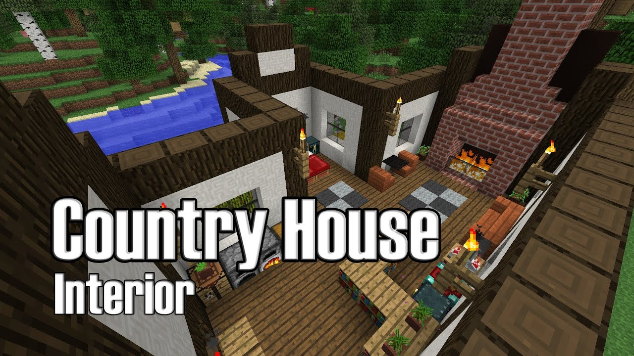 Minecraft Country House Interior Design   YouTube Part 84