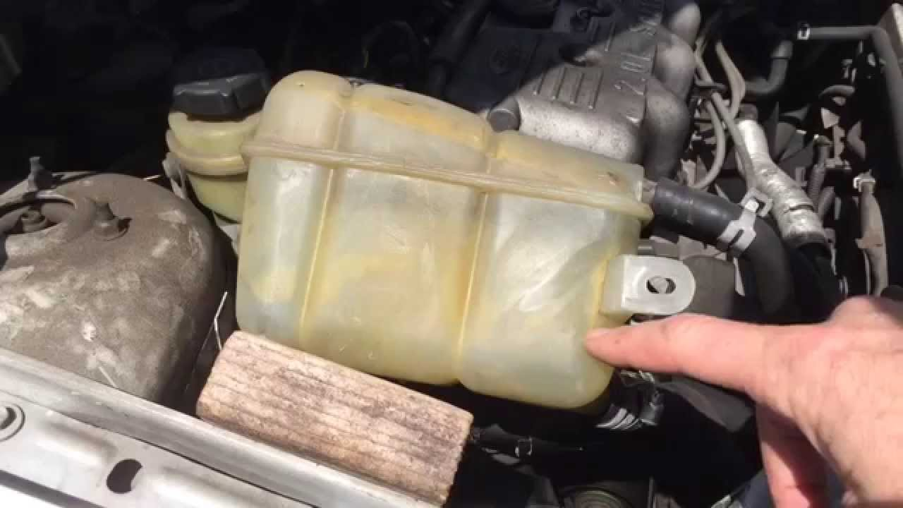 how to fix a leaky coolant overflow tank [ 1280 x 720 Pixel ]