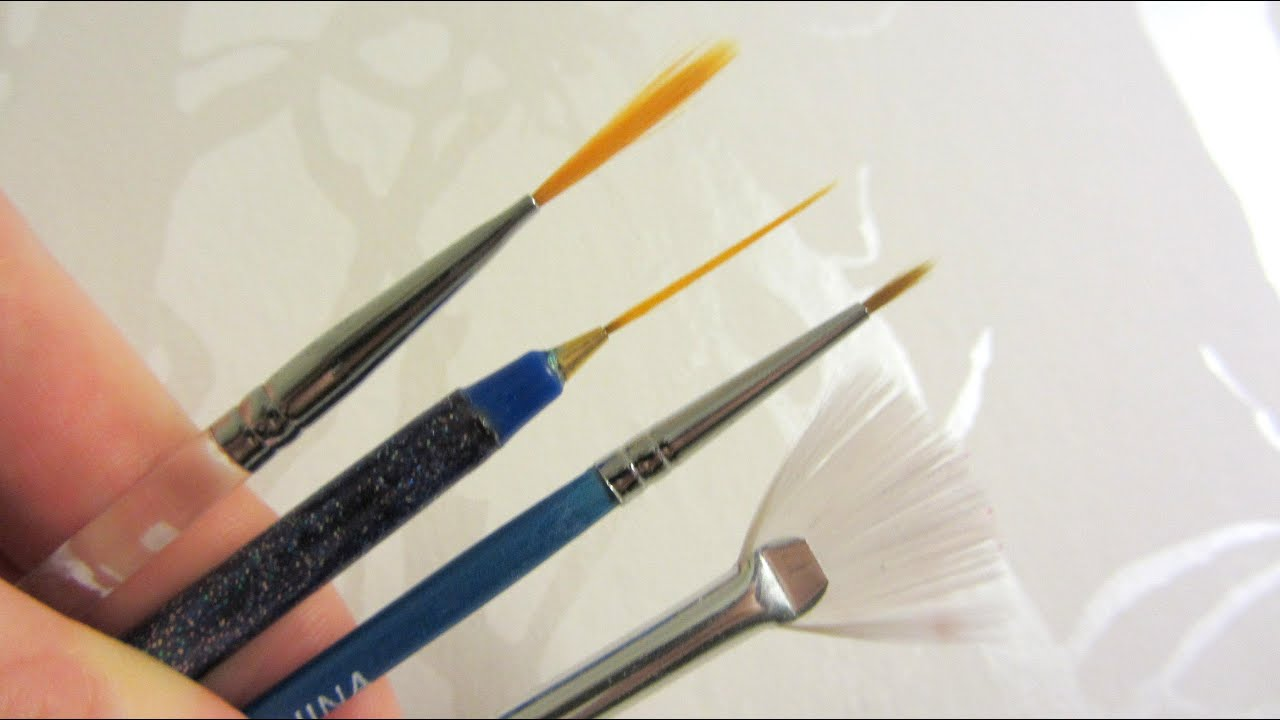 How To How I Clean My Nail Art Brushes Youtube