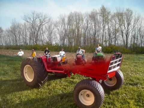 kentucky garden tractor club plowing and pulling