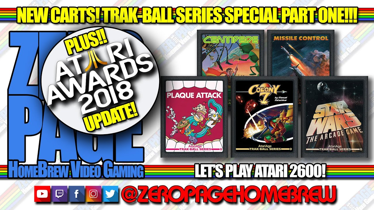 Trak-Ball Hacks! Plaque Attack, Centipede, Colony 7, Missile Control, Star  Wars: ZeroPage Homebrew