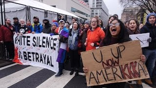 Trump Resisters and Supporters Clash on Inauguration Day