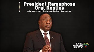President Ramaphosa makes oral replies in Parliament, 31 October 2019