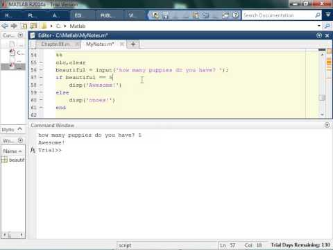 If, Else, And Elseif Matlab Statements