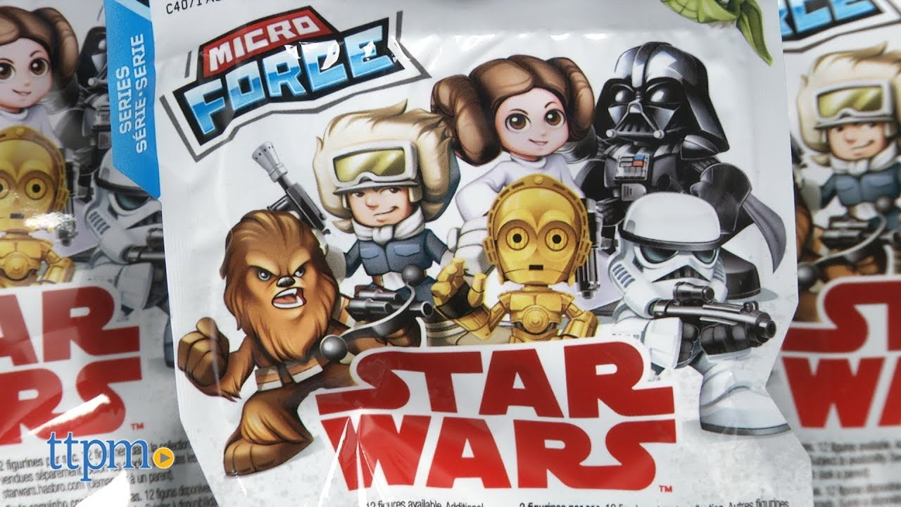 Disney Hasbro Star Wars Micro Force Series 4 Complete Set Of 12 With //Checklist