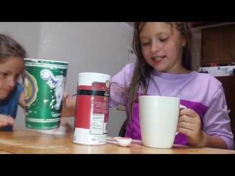 How to gargle salt water. Kids how to. Sore throat fix.