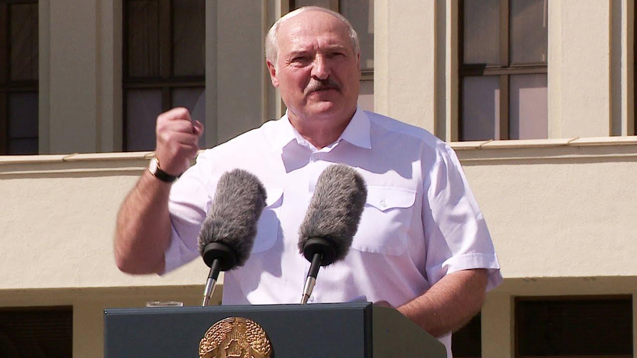 Лукашенко: Даже когда я буду мёртвым, я этого не позволю вам! Митинг в Минске