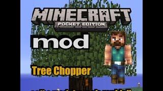 Minecraft PE:Mod(tree chopper) COLETE MADEIRA MAIS RAPIDO-(como instalar