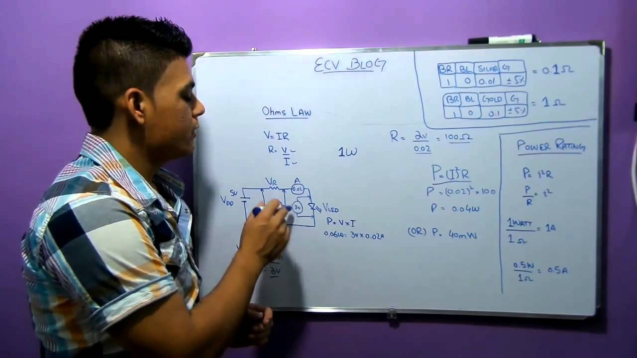 Ecv Blog5 How To Calculate Resistor Value For Circuit Designs Youtube Parallel Led Resistance Schematic Calculator