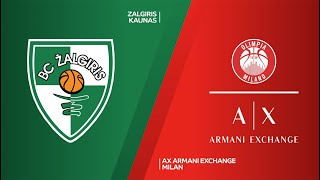 Zalgiris Kaunas - AX Armani Exchange Milan Highlights | Turkish Airlines EuroLeague, RS Round 28