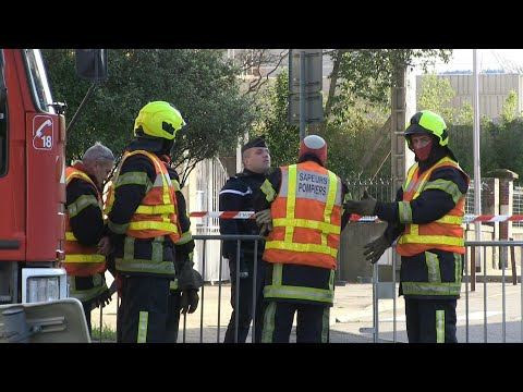 Emergency services gather near the epicentre of strong earthquake in southeastern France | AFP