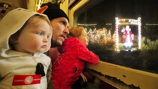 Polar Express To Visit Santa The Family Rides A Christmas Train For A North Pole Winter Vacation