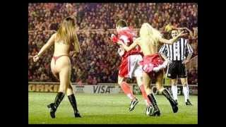 Boro v Newcastle 1998-99 STREAKER FOR GAZZA !