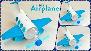 DIY WATER BOTTLE CRAFT - HOW TO MAKE COOL AIRPLANE FROM WASTE PLASTIC BOTTLE