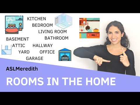 Learn ASL: How to Sign Rooms in the Home for Beginners in American Sign Language