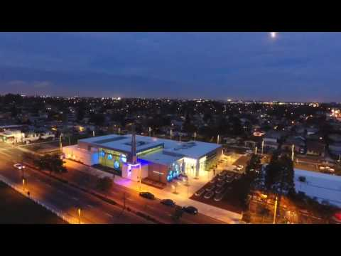 Beautiful Michelle Obama Library at Night - North Long Beach Public Library