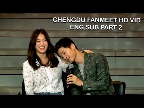 [ENG SUB] Song Joong Ki & Song Hye Kyo Fan Meeting in Chengdu Part 2 (Sweetest moments) HD from YouTube · Duration:  6 minutes 32 seconds