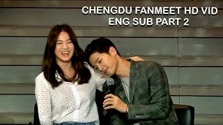 [ENG SUB] Song Joong Ki & Song Hye Kyo Fan Meeting in Chengdu Part 2 (Sweetest moments) HD thumbnail