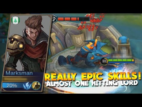 NEW Hero Marksman (StarLord) Gameplay & Skills! Mobile Legends