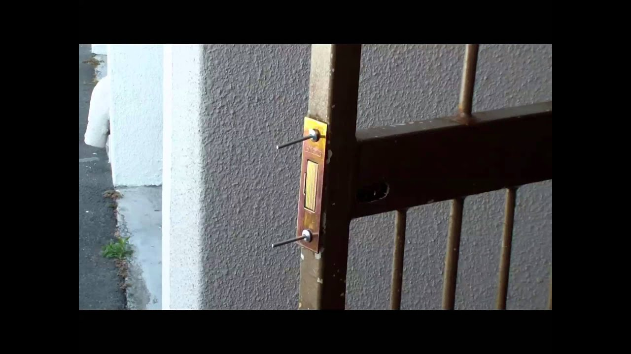 Installing a Security Gate Lock Installing a