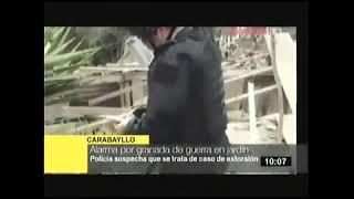 HALLAN GRANADA DE GUERRA EN CARABAYLLO    TV PERU