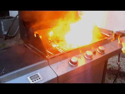 how to put out a grease fire on bbq