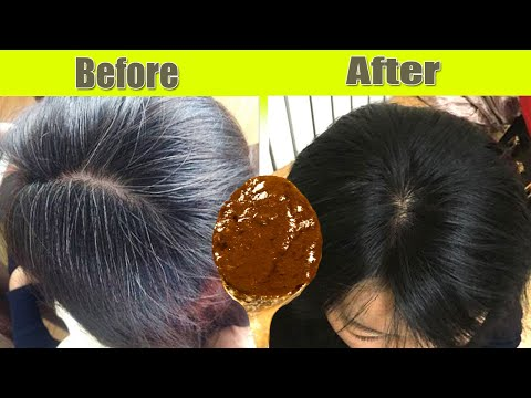 Apply only 1 time and turn white hair to brown instantly 100 % work No white hair anymore